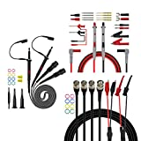 Premium Test Leads Set, Digital Multimeter Leads Kit with Oscilloscope Probes BNC Cable Leads Set for multimeter, Oscilloscope