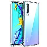 AINOYA Coque pour Huawei P30, Etui Transparent Silicone TPU Souple, Bumper...
