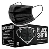 BLACK SHIELD - Certification CE - Masque chirurgical MEDICAL noir - Lot de 50 -...