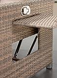 greemotion Rattan-Lounge Bahia Twin, Sofa & Bett aus Polyrattan, indoor & outdoor, 2er Garten-Sofa mit Stahl-Gestell, Daybed zweigeteilt, grau-bicolor - 5