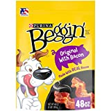 Purina Beggin' Strips Real Meat Dog Treats, Original With Bacon - 48 oz. Pouch