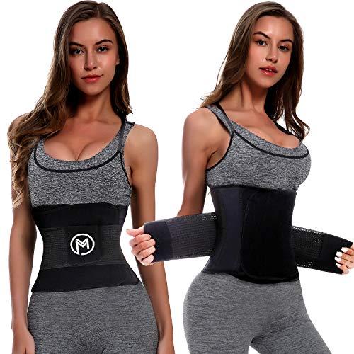 MERMAID'S MYSTERY Waist Trimmer Trainer Belt for Women Men Weight Loss Premium Neoprene Sport Sweat Workout Slimming Body Shaper Sauna Exercise 2