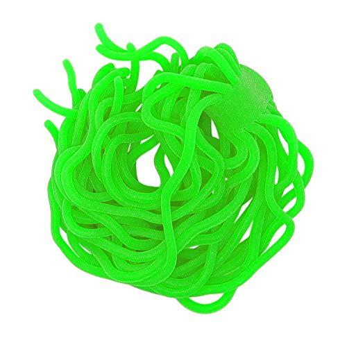 Sams Fishing, esche a forma di vermi attorcigliati per mosche; per legare mosche per la pesca di trote, Green