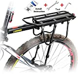 West Biking 110Lb Capacity Almost Universal Adjustable Bike Cargo Rack Cycling Equipment Stand Footstock Bicycle Luggage Carrier Racks with Reflective Logo