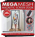 Magnetic Screen Door - Heavy Duty Reinforced Mesh & Full Frame Hook &...