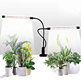 Grow Light,GHodec Sunlight White 50W 84 LEDs Dual Head Clip Plant Lights for Indoor Plants, 4/8/12H...