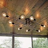 OYIPRO Moderne Lustres Plafonniers Noir 8 E27 pour le salon chambre...