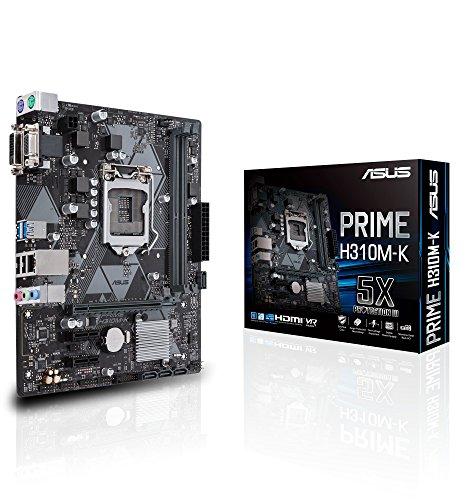 Asus Prime H310M-K Mainboard Sockel 1151 (mATX, Intel H310, DDR4 Speicher, 6Gbit/s SATA, USB 3.1 Gen1)
