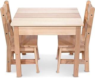 Melissa & Doug Tables & Chairs 3-Piece Set – Natural