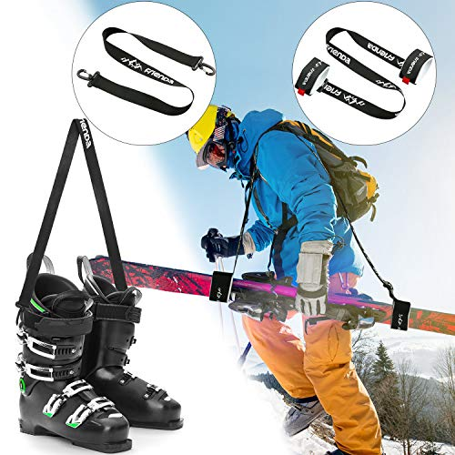 Frienda Tracolla da Sci per Snowboard Tracolla per Portasci Guinzaglio per Imbracatura Spalla Pattini da Ghiaccio Tracolla da Sci Regolabile Attrezzatura per Sci per Uomini Donne Bambini Familiari
