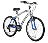 Kent Pomona Men's Dual Suspension Comfort Bike, 26-Inch