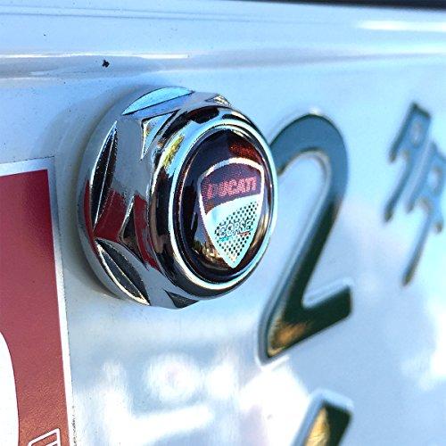 バイク用 DUCATIロゴ ナンバープレート ボルト ライセンスボルトセット1台分 ドウカティ