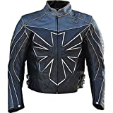 Classyak Men's Custom Triumph Motorcycle Real Leather Jacket Cow Black X-Large