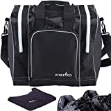 Athletico Bowling Bag & Seesaw Polisher Bundle - Single Ball Tote Bag with Padded Ball Holder - Fits...