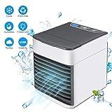 Geek Up Mini condizionatore di raffreddamento ad aria a risparmio energetico portatili/ventilatore/umidificatore con 3 velocità di vento e 7 cambiamenti di colore (bianco)