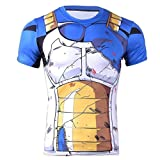 Cosplay T-Shirt Compression Vegeta Armure de Combat (Taille S)