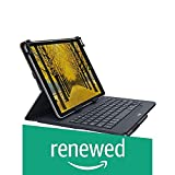 Logitech Universal Folio with Integrated Bluetooth Keyboard, Black (Renewed)