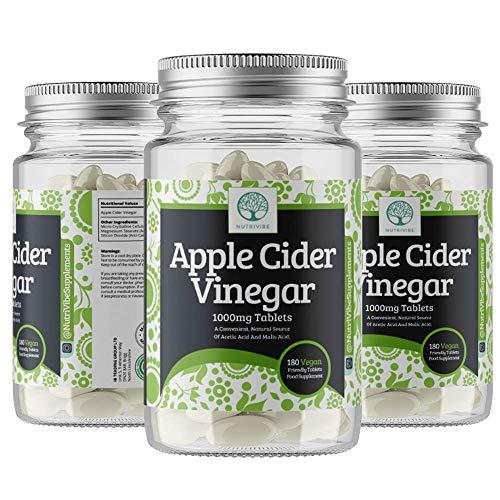 Apple Cider Vinegar 1000mg – Premium Quality Supplement, 180 Capsules