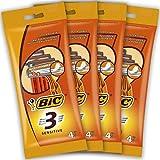 BIC 3 Sensitive Rasoirs Jetables pour Homme - Lot de 16 Rasoirs