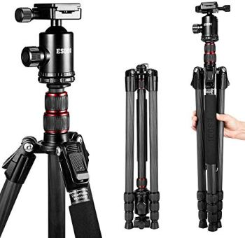 ESDDI 79'' Ultra Compact and Carbon Fiber Tripod with 360° Panorama Ball Head, Ideal for Travel and Work