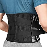 Freetoo Back Braces for Lower Back Pain Relief with 6 Stays, Breathable Back Support Belt for Men/Women for...