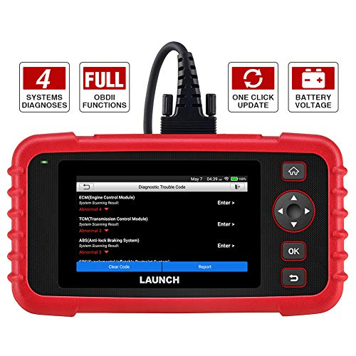 LAUNCH Code Reader - CRP123X OBD2 Scanner for Engine Transmission ABS SRS Code Reader Car Diagnostic Tool, Android 7.0-Based Wi-Fi One-Click Free Updates, 5.0 Touchscreen, Upgraded Version of CRP123
