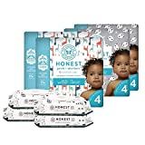 The Honest Company Super Duper Club Box with TrueAbsorb Baby Diapers & Honest Baby Wipes | Size 4 | Eco-Friendly Diapers | Hypoallergenic Wipes | Stylish Prints