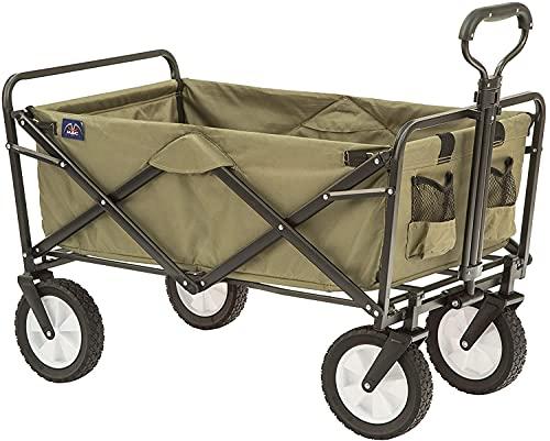 Folding Wagon, Garden CartHeavy Duty Collapsible Folding...