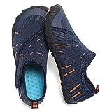 CIOR Boys & Girls Water Shoes Quick Drying Sports Aqua Athletic Sneakers Lightweight Sport Shoes(Toddler/Little Kid/Big Kid) U1ELJSX011-Navy.orange-29