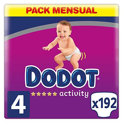 Dodot Pañales Bebé Activity Talla 4 (9-14 kg), 192 Pañale