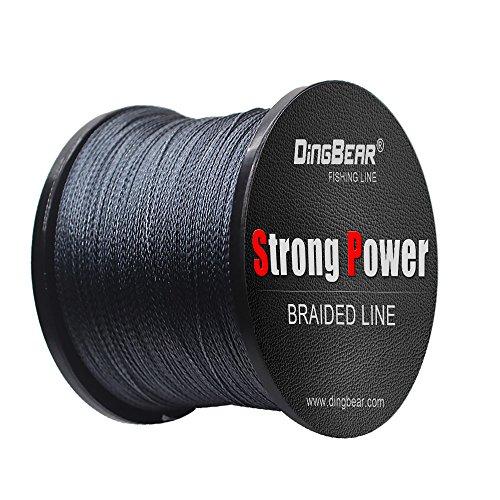 Dingbear 1093Yd / 1000m 65LB / 0.37mm Grigio Super Strong Pull Linea di Pesca Intrecciata Linea di Pesca Linee di Pesca Linea di Pesca