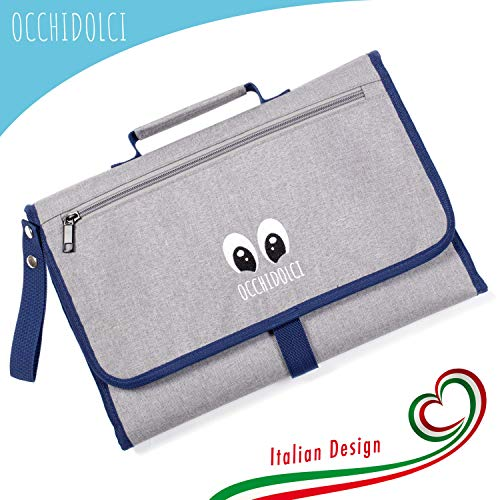 Fasciatoio portatile con tre tasche