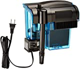 PENN PLAX (CPF3) Cascade Hang-on Aquarium Filter With Quad Filtration System Cleans Up to 35 Gallon Tank
