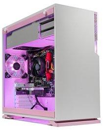 [Limited Pink Edition] SkyTech Venus Desktop Gaming Computer PC (Ryzen 3 1200, GTX 1050 Ti 4GB, 8GB DDR4, 1TB HDD, 500 Watts PSU, Win 10 Home, RGB Silent Fans) (GTX 1050 TI | 8GB | No SSD)