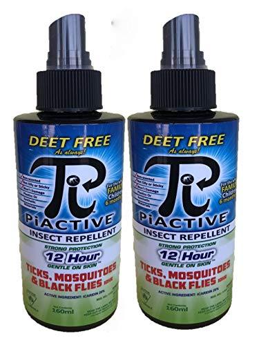 Piactive Deet Free Insect Repellent 2x160ml