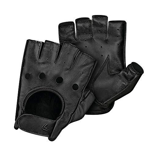 Pilot-2, guanti guida mezze dita - M - Nero