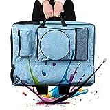 Caballetes de Dibujo Cubo Plegable Bolsa, Pintor Bolsa Mochila Bolsa de Caballete de bocetos o Dibujar 65 * 50cm Profesional Maletín (Color : Blue)