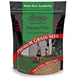 F.M. Brown's PlatinumElite Fescue Plus Grass Seed Mixture - 99.9 Percent Weed Free, Fast-Growing Perennial Seeds for Beautiful Lawns - 5lb