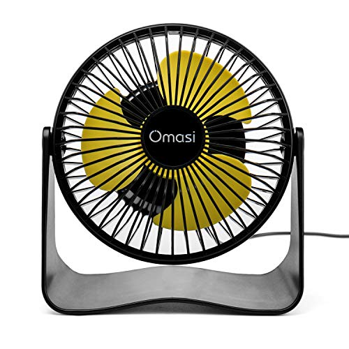 Omasi Ventilatore Mini USB Ricaricabili Ventilatori Portatile,Rotazione silenziosa Regolabile a 3 velocit Ventola da Tavolo 360 per casa, Ufficio, Esterno, Viaggio