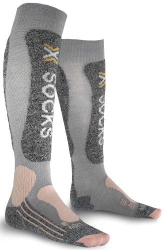 X-Socks Skiing Light Lady Calza Sci, Donna, Grigio (Light Grey/Pink), 35/36