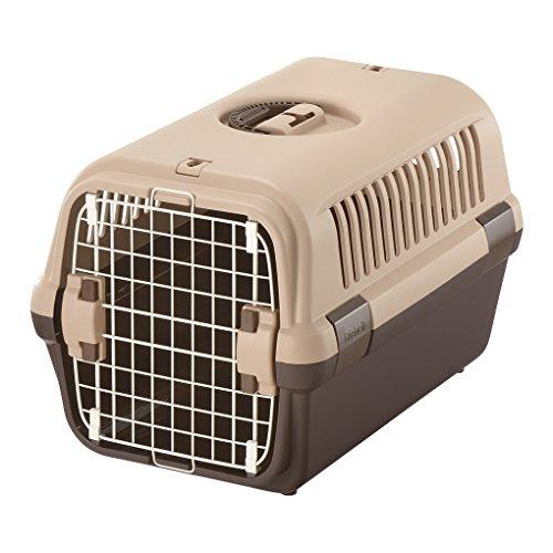 リッチェル キャンピングキャリー 小型犬・猫用 ダークブラウン M サイズ