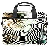 Bolsa para portátil de 13,4 a 14 pulgadas, con textura de vidrio plateado, funda multifuncional para portátil, maletín portátil, correa ajustable para el hombro