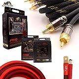 Elite Audio 0 Gauge 100% Copper Pro Amp Kit EA-PROK0 5000 Watt Complete OFC Amplifier Installation Wiring Kit w/ 20 feet 0 Ga Copper Wire, 2-Channel Copper RCA Interconnects, 12 Gauge OFC Speaker Wire