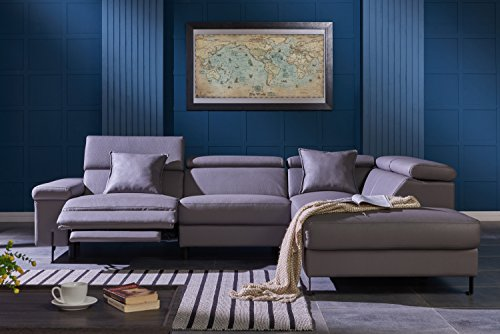 Modern Sectional Sofa with Electrical Recliner Dark Grey