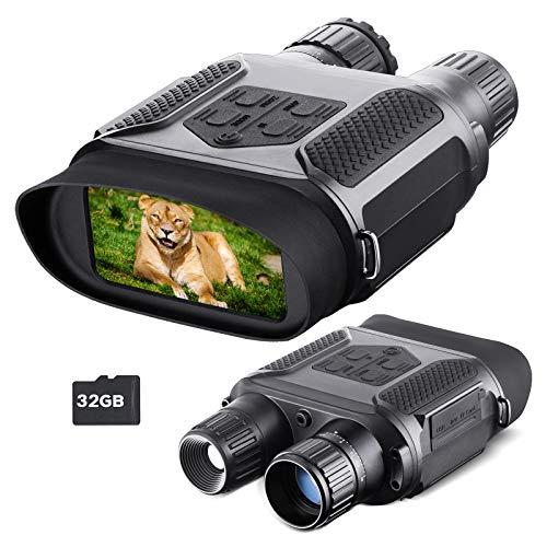 Visione Notturna Binocolo per Adulti, con Scheda TF 32 GB, Zoom Digitale Infrarossi HD 7x, portata...