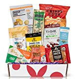 High Protein Sampler Snack Box: Healthy Fitness Snacks Care Package, Prefect Healthy Gifts For Men, Military, Athletes Mothers Day Gift Basket