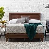 Edenbrook DeltaWood Bed Platform, Queen, Rustic Mahogany