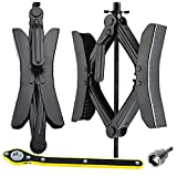 Wankic X Shaped Chocks Wheel Stabilizer for RV Travel Trailer,Anti-Move Camper Tire Chock Stabilizers Scissor 2 Sets with Accessories