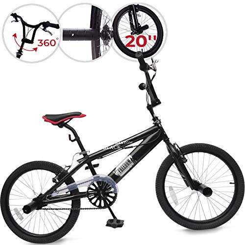 Jago | Black Phantom | BMX fiets | 20 inch | 360° rotatie | 4 Pegs | Freestyle