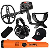 Garrett AT MAX Waterproof Metal Detector, MS-3 Wireless Headphones and Pro-Pointer AT Z-Lynk Pinpointer